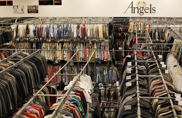 A fraction of the 6 million costume inventory is seen in the warehouse of Angels in London